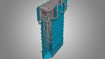 Mineral froth flotation cell - column