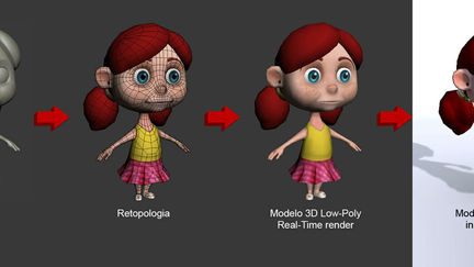Girl for a mobile game