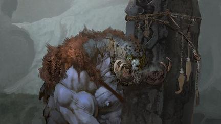 God of War Visual Development- ICE Troll