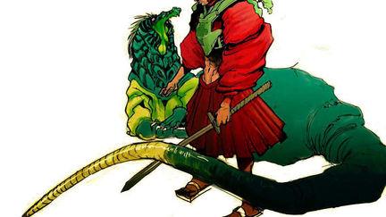 Samurai and his buddy