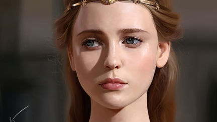Portrait Study - Golden Tiara