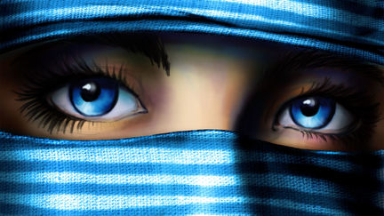 gaze in blue