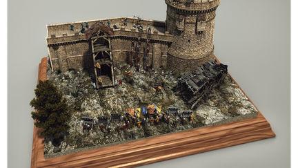 Medieval Siege Diorama