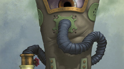Eye Floating In A Gas Mask