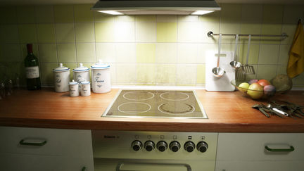 Middle-class kitchen