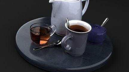Tea time in the photo studio