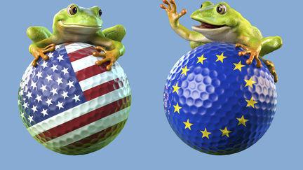 frogs on balls