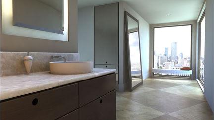 Architecture: bathroom rendering
