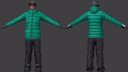 Tony Hawk Snow Outfit