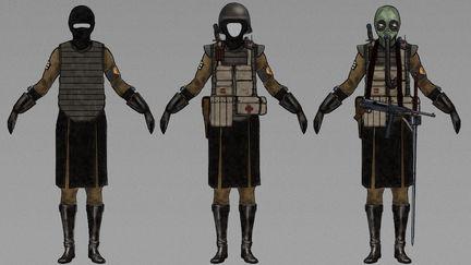 Uniform, gear, equipment (colour test).