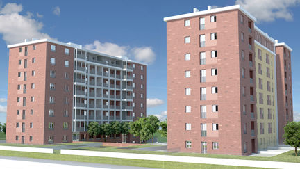 Exterior Buildings - modelling, shading, lighting and rendering