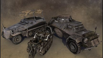 Game Art - Company of Heroes: Opposing Fronts Vehicles