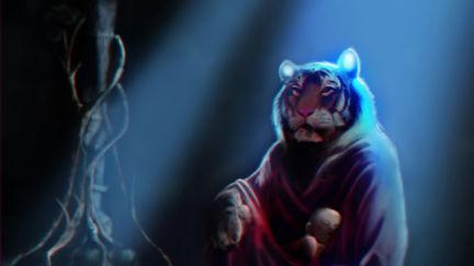 Shere Khan and Mowgli