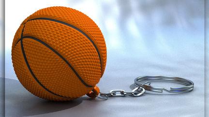 Basket-ball keychain