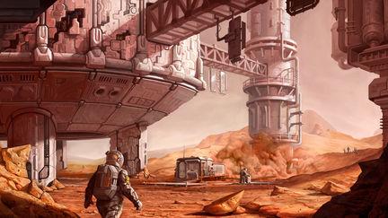 on the Mars