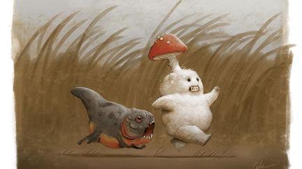 Mushroom Kid and Piranha Puppy