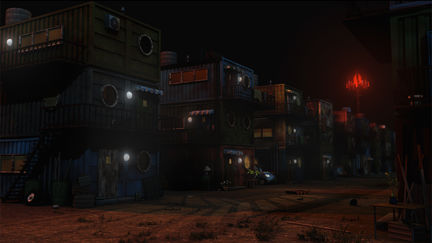 Cargo Homes at Night