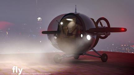 Fly™ Citycopter - (Concept Aerial Vehicle ©2014 Eduardo Galvani)