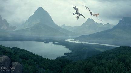 Dragons Matte Painting