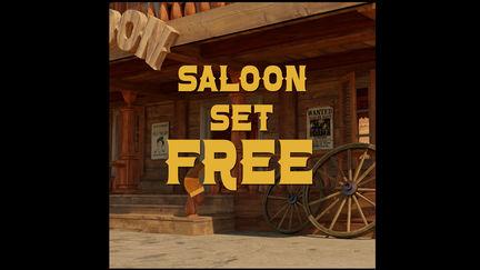 Stylized saloon set