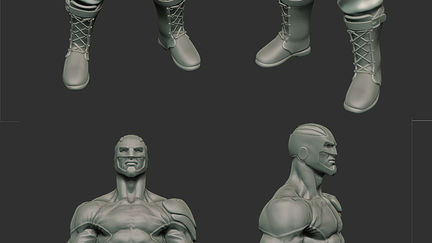 Captain Britain WIP sculpt.
