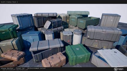 [UE4] SciFi Crates Pack 1.1