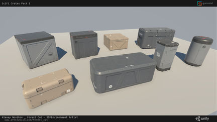 [Unity] SciFi Crates Pack 1