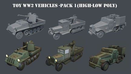 Toy WW2 Vehicles Part I