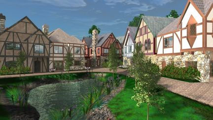 """""""The Shire"""" townhomes and pond"""