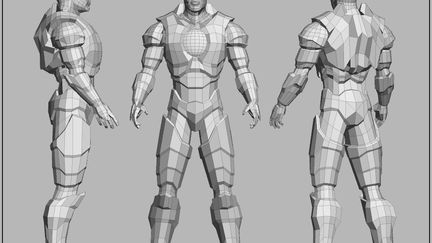 New Armored Warrior (realtime/game) - Untextured