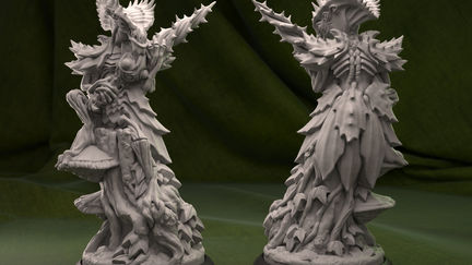 Weedlock- alien sculpture