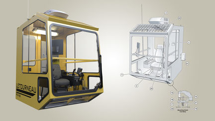 Crane Cab Technical Illustration