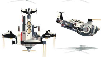 Concept plane three-view