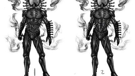 Shadow Tech Suit  Character Concept  artwork