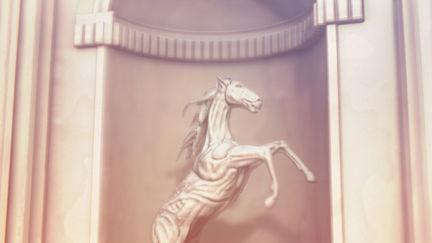 A horse sculpture