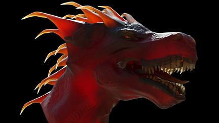 crimson devil dragon