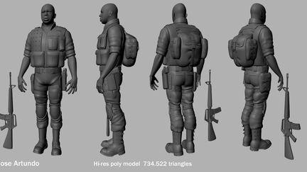High Resolution soldier 3d model