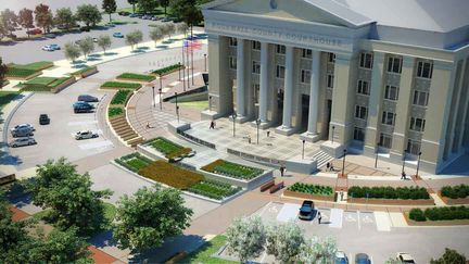 Rockwall Courthouse - bird's eye view