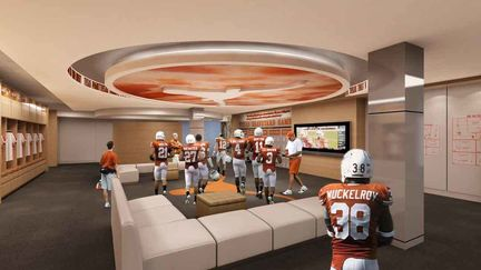 University of Texas at Austin college football locker room
