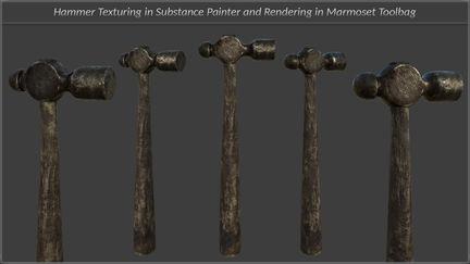 Blacksmith Hammer Texturing And Rendering Tutorial