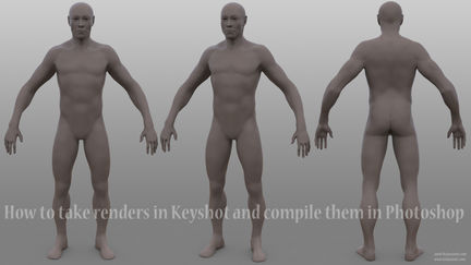 How to take renders in Keyshot and compile them in Photoshop