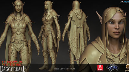 Rogue leather sculpt
