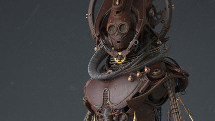 STAR WARS REIMAGINED: african totem C3PO