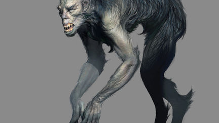 "early design of Lycan monster for ""The Order 1886"""