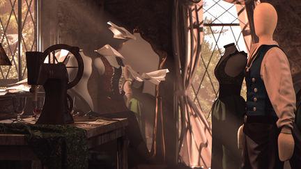 Medieval Sewing Room