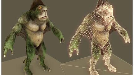 Game rez Swampy Character
