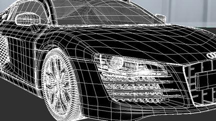 Audi R8 wireframe