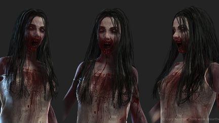Zombie Girl closeup 1