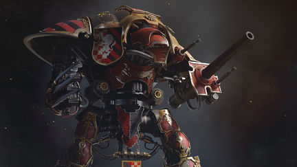 imperial knight Warhammer 40k fan art