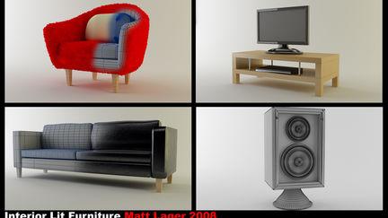 Interior lit furniture
